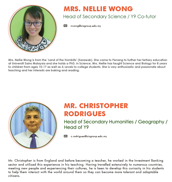 Nellie Wong and Christopher Rodrigues teacher's profile